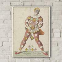 N. de Vries: Arlequin's Lotto Game. Fine Art Canvas