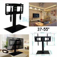 TILT Stand Base BRACKET for 37 42 46 50 52 55 LCD LED PLASMA FLAT TV Black