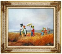 Ölbild,Carl_Spitzweg_Sonntagsspaziergang,Gemälde HANDGEMALT F:50x60cm