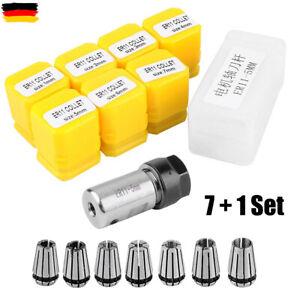 8 Stück Set ER11 1-7mm Spannzange Spannzangenfutter für CNC Fräsen Drehmeißel