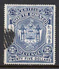 North Borneo 1889 $25 Revenue stamp used