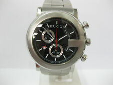 Gents Gucci Watch Stainless Steel Black Dial Chronograph 101M Cal.251.471 #836