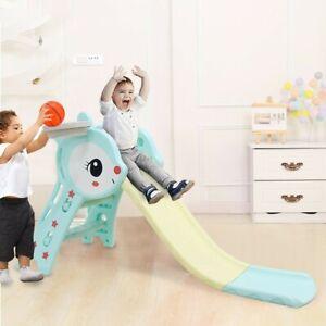 Kids Slide Outdoor Garden Plastic Children Toys Indoor Playground Fun Play Toy