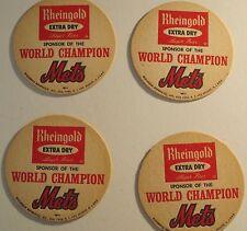 NY Mets World Champion Rheingold Coasters Lot Of 4