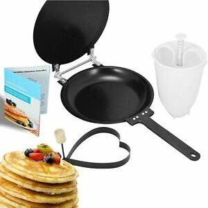 Crepe Pancake Maker Waffle Omelette Easy Flip Pan Frying Free Batter Dispenser