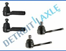 New 4pc Kit: Front Suspension Lower Ball Joints and Outer Tie Rod Links for Kia
