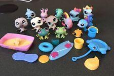 Littlest Pet Shop Ocean Sea Beach Lot Figures & Accessories Fish Seahorse Seal
