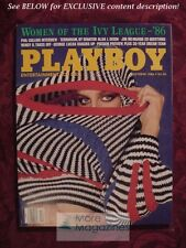 PLAYBOY October 1986 WENDY O. WILLIAMS PHIL COLLINS PHILIP SIMMONS JIM MCMAHON