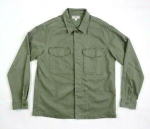 Wallace & Barnes Medium Shirt Jacket Military Style Chore Work Olive Men's EUC