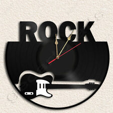 Rock fans Vinyl Record Clock Upcycled Gift Idea