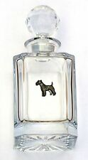 Fox Terrier Design Cut Crystal Glass Decanter Dog Gift