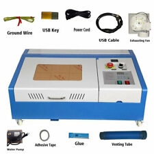 "12"" x 8"" 40W CO2 Laser Engraver and Cutter Worktable Engraving Machine FDA"