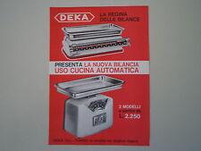 advertising Pubblicità 1966 BILANCIA DEKA