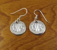 Handmade Monogram Earrings - Sterling Silver - Personalized- Bridesmaids Gift