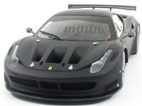 HOT WHEELS BCK09 ELITE FERRARI 458 ITALIA GT2 1/18 DIECAST MODEL CAR MATTE BLACK