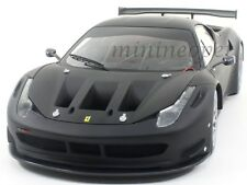 HOT WHEELS BCK09 ELITE FERRARI 458 ITALIA GT2 1/18 DIECAST FLAT BLACK