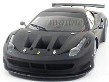HOT WHEELS BCK09 ELITE FERRARI 458 ITALIA GT2 1/18 DIECAST FLAT BLACK