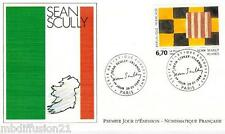 1994**ENVELOPPE ILLUSTREE**FDC 1°JOUR!!**SEAN SCULLY-PEINTRE**TIMBRE Y/T 2858