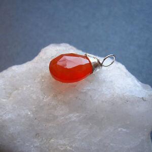 1 Carnelian Gemstone Charm Necklace Pendant