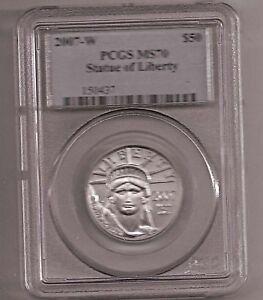 2007-W PCGS MS70 $50 1/2 OZ. PLATINUM LIBERTY COIN