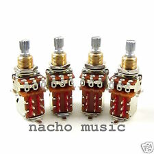Set of 4 Bourns 500K Audio Taper Push-Pull Potentiometers / Pots Jimmy Page Mod