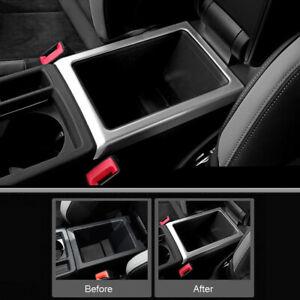 For Audi Q3 2019 2020 2021 Matte Interior Armrest Storage Box Frame Cover Trim