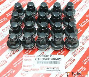 Toyota Tundra Sequoia Land Cruiser Black PVD Lug Nuts Set of 20 PT076-0C200-02