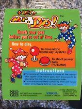 Neo Mr Do Neo Geo Mini Arcade Marquee