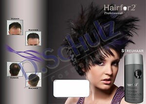 Hairfor2 Haarverdichter Streuhaar Schütthaar Hair Fibres Microhairs Fasern Cover
