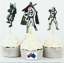 12 x Star Wars Theme CUPCAKE CAKE JELLY CUP TOPPERS Children Birthday Party