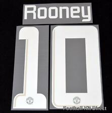Manchester United Rooney 10 Champions League Football Shirt Name Set 2013/14
