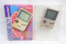Game Boy Bolsillo Oro Consola en Caja Ref / 4099 Nintendo MGB-001 Comprobado