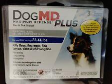 DogMd PlusMaximum Defense Dog 23-44 lbs Flea Eggs Lice & Tick Topical Fipronil