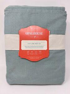 Opalhouse Twin XL Sheet Set Blue Easy Care 200 Thread Count