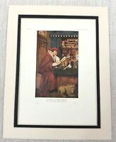 1927 Antico Stampa Olandese Vecchio Master Ritratto San Girolamo Petrus Christus