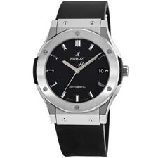 New Hublot Classic Fusion 45mm Black Dial Titanium Men's Watch 511.NX.1171.RX