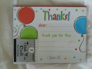 8 thankyou cards and envelopes BNIP