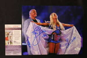 RIC FLAIR CHARLOTTE DUAL SIGNED 8X10 PHOTO WWE 16X AUTOGRAPH JSA COA JB914