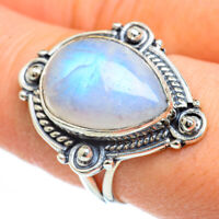 Rainbow Moonstone 925 Sterling Silver Ring Size 8.25 Ana Co Jewelry R44946F
