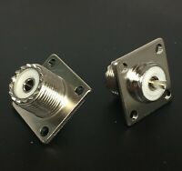 *100 Pack* NEW UHF female SO-239 panel chassis mount coaxial connector for PL259