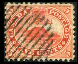 15 CANADA 5c Vermilion CANADIAN BEAVER Used $37 SEE PHOTOS Lot J-554
