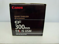 Canon EF 300mm F4 L IS USM Prime Lens+Tripod Mount+Case+Box EXCELLENT++