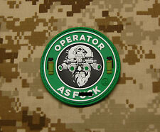 3D PVC Operator As F**k OAF Nation MARSOC Raiders USMC Morale Patch VELCRO®