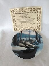 Twilight Friends Call of the Wilderness Wolf Plate