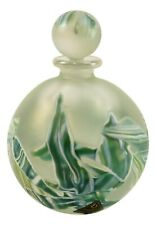 Rare ISLE of WIGHT Glass BON BON Round Perfume Bottle PEPPERMINT 1986 Only