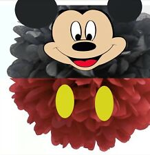 """Mickey Mouse Red Tissue Paper Pom Pom 12""""in Birthday Decoration Party Hanging"""