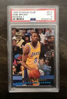 Kobe Bryant 1996-97 Topps Stadium Club #R12 ROOKIE RC PSA 9 MINT LAKERS HOF 🔥📈
