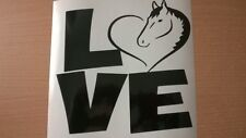 love horses heart horse box car vinyl sticker wall art graphic stables door fun
