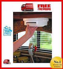 Paper Plate Holder Storage Organizer Mount Under Cabinet RV Shelf Rack Dispenser