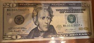 2013 *Star* $20 BOSTON Fed Reserv Note LOW SERIAL # 65 Or Better EPQ Gem Uncir